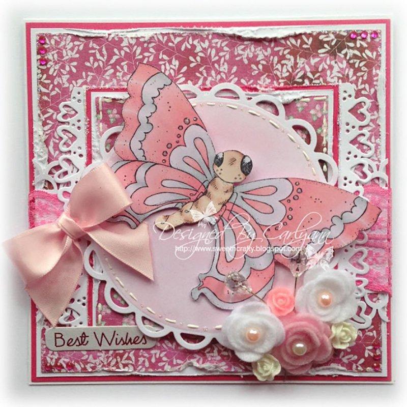 Magnolia Tilda Card Butterfly